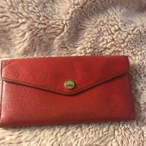 Red Michael Kors wallet - Pink and White Interior
